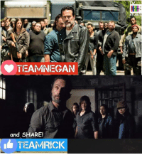 Family, Life, and Lol: TEAMNEGAN  and SHARE!  TEAM RICK  ARAB Excited for #TheWalkingDead Season 7 Finale on AMC tonight. My The Walking Dead Family page is almost at 244,000 fans! I have 5,776 of you following me on here, it would AMAZE me if I could get even 1% OF YOU to RESPOND and VOTE today. LOL! :) :D (y)  Watch NEW PROMOS on my site: http://www.egvoproductions.com/news-blog/the-walking-dead-season-7-finale-the-first-day-of-the-rest-of-your-life-on-amc-4-2-2017