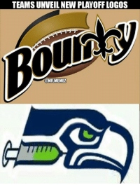Nfl, New Orleans Saints, and Game: TEAMSUNVEIL NEW PLAYOFF LOGOS  CONFLMEMEZ BREAKING: NEW logos ANNOUNCED for Saints/Seahawks game!
