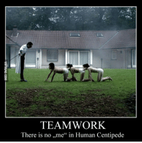"""human centipede: TEAMWORK  There is no ,,me"""" in Human Centipede"""