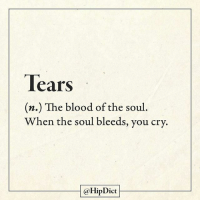 Memes, 🤖, and Blood: Tears  (n.) The blood of the soul  When the soul bleeds, you cry.  @HipDict Damn the onions. @hipdict