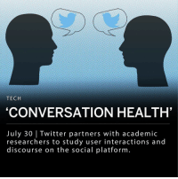 "Complex, Memes, and Twitter: TECH  'CONVERSATION HEALTH'  July 30 |Twitter partners with academic  researchers to study user interactions and  discourse on the social platform. Twitter is turning to academic researchers to find ways in which the social platform can improve the 'conversational health' amongst its users. The initiative is a part of Twitter's mission to maintain social relevance, as the platform reports it has lost 1 million users. ___ Back in March, Twitter called researchers for proposals as to how the platform could watch the types and tone of conversations between users. Over 230 proposals were reviewed by a variety of Twitter employees, and the company has decided on two research teams to tackle two different issues. ___ The first team, led by researchers from Leiden University, will handle echo chambers and uncivil discourse. The team will be measuring how much users interact and will create an algorithm that can distinguish between uncivilly and tolerance. ___ The second team, led by researchers at the University of Oxford and the University of Amsterdam, will look at interactions and distressing prejudice. Their project will look at how Twitter users treat (or mistreat) prejudice and discrimination when interacting with accounts of diverse viewpoints. ___ Twitter said in a statement: - ""When the communication between groups contains more positive sentiments, cooperative emotions, and more complex thinking and reasoning from multiple perspectives, prejudice is reduced and relations can improve."" ___"
