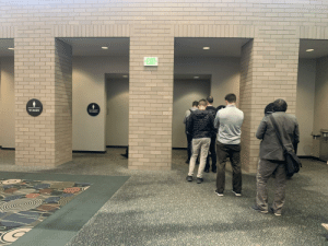 Tech summits: the one time the men's bathroom line exceeds the women's ( @ silicon slopes): Tech summits: the one time the men's bathroom line exceeds the women's ( @ silicon slopes)