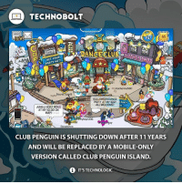 Halloween, Memes, and Iggy: TECHNO BOLT  21  M  OO  nMES  GET YOUR  Katherine530  s Secret User9  HALLOWEEN DANCE  PARTY AT MY IGGY  aola81  PARTY  ALL WELCOME  JUNGLE BOATRIDES  AT MY IGL000N  MAP!  G  time2 hop1236  guy  MAP  Dicadence  CLUB PENGUIN IS SHUTTING DOWN AFTER 11 YEARS  AND WILL BE REPLACED BY A MOBILE-ONLY  VERSION CALLED CLUB PENGUIN ISLAND.  i ITSTECHNOLOGIC Club Penguin will be shutting down on March 29th, 2017 😢 - Source: (engadget) http:-engt.co-2kqBBpe - fact technobolt tech news omg sad wow lol disney clubpenguin club penguin cry tears no apple iphone samsung