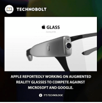 What do you guys think? - Source: (verge) ➡bit.ly-augbolt - fact technobolt technology tech apple glasses iphone ipad ipod microsoft google hololens: TECHNO BOLT  & GLASS  Coming 2018  APPLE REPORTEDLY WORKING ON AUGMENTED  REALITY GLASSES TO COMPETE AGAINST  MICROSOFT AND GOOGLE.  i IT'STECHNOLOGIC What do you guys think? - Source: (verge) ➡bit.ly-augbolt - fact technobolt technology tech apple glasses iphone ipad ipod microsoft google hololens