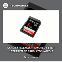 So much space in such little space! - Source: (verge) ➡bit.ly)1tbbolt - fact technobolt technology sandisk iphone iphone7 samsung wow amazing smartphone harddrive: TECHNO BOLT  SANDISK RELEASES THE WORLD'S FIRST  1 TERABYTE SD CARD. #TECHNOBOLT  i ITSTECHNOLOGIC So much space in such little space! - Source: (verge) ➡bit.ly)1tbbolt - fact technobolt technology sandisk iphone iphone7 samsung wow amazing smartphone harddrive