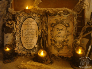 novelty-gift-ideas:  Halloween Book Of Spells: Ted tatphid  you seek  BAnKRAL  Compiled from conturies  forgee  Book  Wihwut reed  for danger frugbe  Çald rar bones  ार tr  ie rostless faoig  s for naught  We betide  de famt and-neah  whe otr hore  for Sonergladige  soughe  Spells  CREEK  COLD  PRIMITINES  dle novelty-gift-ideas:  Halloween Book Of Spells