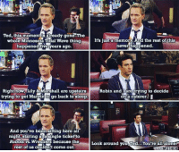 This moment... #HIMYM https://t.co/zsK4Wda7Om: Ted, this moment 18 already gone. The  whole Minnesota Tidal Wave thing  It's just a memory And the rest of this  happened tive years ago  never happened.  Right now, Lily & Marshall are upstairs  Robin and I are  trying to decide  trying to get Marvnto go back to sleep.  on a caterer,  And you've been sitting here all  night staring at a single ticket to  Robots vs. Wrestlers because the  Look around you Ted...You're all alone  rest of us couldn't come out.  YOUR MOTHER This moment... #HIMYM https://t.co/zsK4Wda7Om