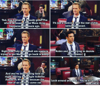 Such a tough scene :( HIMYM: Ted, this moment is already gone.The  whole Minnesota Tidal Wave thing  It's just a memory. And the rest of this  never happened.  happened five years ago.  Right now, Lily & Marshall are upstairs  Robin and Iare trying to decide  trying to get Mavin Go go back to sleep.  on a caterer, I  And you've been 8itting here all  night, staring at a single ticket to  Robots wrestlers because the  Look around you Ted. You're allalone  rest of us couldnt com  out  OURMOTHER Such a tough scene :( HIMYM