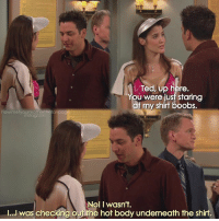 {2x8} This guy😂😂 I mean seriously!😂 -- Scene requested by @aarsh_arora himym howimetyourmother sitcom robinscherbatsky cobiesmulders tedmosby joshradnor: Ted, up here  U were just staring  at my shirt boobs.  howin nstagram  Nol I wasn't.  l...l was checking o  e hot body underneath the shirt. {2x8} This guy😂😂 I mean seriously!😂 -- Scene requested by @aarsh_arora himym howimetyourmother sitcom robinscherbatsky cobiesmulders tedmosby joshradnor