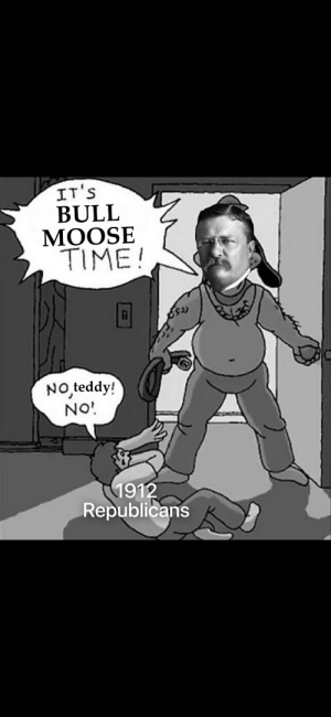 Teddy Roosevelt runs for president under the Bull Moose Party (c. 1912, colorized): Teddy Roosevelt runs for president under the Bull Moose Party (c. 1912, colorized)