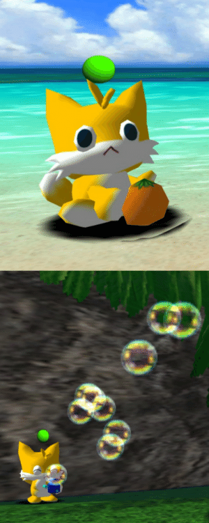 Cute, Tumblr, and Blog: teddyhearted:tails chao are really cute