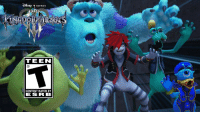 Look Sully!! I made it into Kingdom Hearts!! -Mike Wazawski https://t.co/w71Y8lHdqD: TEEN  CONTENT RATED BY  ESR B Look Sully!! I made it into Kingdom Hearts!! -Mike Wazawski https://t.co/w71Y8lHdqD