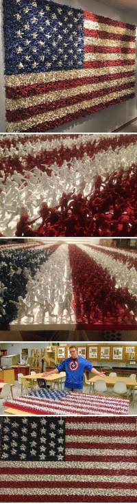 Army, American, and American Flag: Teen Makes American Flag Out Of Painted Army Men