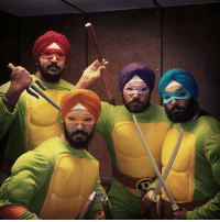 Funny, Turban, and Ninjas: Teenage Mutant Ninja Turbans