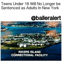 Anaconda, Family, and Juvenile: Teens Under 18 Will No Longer be  Sentenced as Adults In New York  @balleralert  RIKERS ISLAND  CORRECTIONAL FACILITY Teens Under 18 Will No Longer be Sentenced as Adults In New York – blogged by @MsJennyb ⠀⠀⠀⠀⠀⠀⠀⠀⠀ ⠀⠀⠀⠀⠀⠀⠀⠀⠀ On Sunday, NewYork lawmakers voted to increase the age of criminal responsibility, meaning the state will stop charging and sentencing minors as adults. ⠀⠀⠀⠀⠀⠀⠀⠀⠀ ⠀⠀⠀⠀⠀⠀⠀⠀⠀ The increase, which will be set in motion in October 2019, requires offenders under the age of 18 to be sent to juvenile facilities instead of adult jails and prisons. This will allow teens to receive rehabilitation and treatment instead of brutality and torture, as described of the environment of New York City's infamous RikersIsland. In 2018, the age of criminal responsibility will be increased to 17, then 18 in 2019. ⠀⠀⠀⠀⠀⠀⠀⠀⠀ ⠀⠀⠀⠀⠀⠀⠀⠀⠀ The measure also includes a clause concerning nonviolent offenders that will allow them to apply to have their records sealed after 10 years, the Root reports. ⠀⠀⠀⠀⠀⠀⠀⠀⠀ ⠀⠀⠀⠀⠀⠀⠀⠀⠀ The increase comes as part of a $100 million budget deal, approved on the heels of the resurfacing of KaliefBrowder's story. ⠀⠀⠀⠀⠀⠀⠀⠀⠀ ⠀⠀⠀⠀⠀⠀⠀⠀⠀ If you recall, Browder was sent to Rikers at the age of 16, after he was accused of stealing a backpack. He spent three years on the Island because his family could not afford his bail. Although Browder's case would eventually be dismissed, the psychological and physical damage had already been done. Browder was brutalized, beaten and tortured, not to mention isolated and starved. Years after his release, Browder committed suicide as a result of his experience on the island. ⠀⠀⠀⠀⠀⠀⠀⠀⠀ ⠀⠀⠀⠀⠀⠀⠀⠀⠀ What are your thoughts?