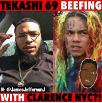 6ix9ine beefing with ClarenceNYC over QueenNaija...🐸☕️: TEKASHI 69 BEEFING  IG: @JamesJeffersonJ  WITH CLARENCE NYC?! 6ix9ine beefing with ClarenceNYC over QueenNaija...🐸☕️