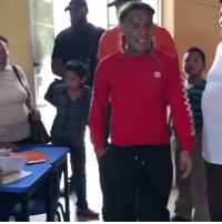 School, Kids, and Mexico: Tekashi 69 visits a school in Mexico that his Mom attended when she was younger and hooked the kids up! 🙌💯 @6ix9ine https://t.co/ljscnzIbgj