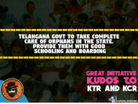 WonderFul Initiative by Telangana Govt 👌👏: TELANGANA GOVT TO TAKE COMPLETE  CARE OF CORPHANS IN THE STATE.  PROVIDE THEM WITH GOOD  SCHOOLING AND BOARDING  GREAT INITIATIVE  KUDOS TO  PAGE  KTR AND KCR  RTA  tOdl DISPAGEvLLENTERTAINU WonderFul Initiative by Telangana Govt 👌👏