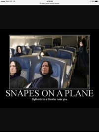 Tonks: Tele2 EE LTE  3:16 PM  a harry potter funny memes  SNA PES ON A PLANE  Slytherin to a theater near you. Tonks