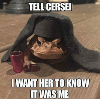 https://t.co/GW8v2QUZYs: TELL CERSE  I WANT HER TO KNOW https://t.co/GW8v2QUZYs