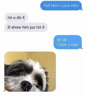 https://t.co/j12l9ZTxPe: Tell Him I Love Him  no u do it  ill show him jus txt it  oh ok  i love u max https://t.co/j12l9ZTxPe