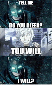 Anime, You, and Tell Me: TELL ME  DO YOU BLEED?  YOUWILL  IWILL?