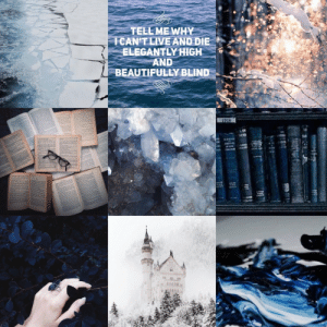 Tumblr, Winter, and Aesthetic: TELL ME WHY  CANT LIVE AND DIEe  ELEGANTLY HIGH  AND  BEAUTIFULLY BLIND mydark-aesthetic:  Requested! Ravenclaw + Winter + Library (plus Palaye Royale)