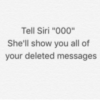 Tell Siri 000 She Ll Show You All Of Your Deleted Messages Turn On My Post Notifications To Never Miss A Post Caulofduty Callofduty Blackops3 Cod Bo3 Gaming Pc Xbox
