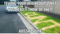 Memes, Aussie, and Aussies: TELLING OUR WHA  YOU REALLY THINK OF THEM  AUSSIE STYLE