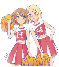 "Target, Tumblr, and Blog: temimima:  @haily-in-neverland and I created new AU yesterday! :D Aph Gakuen AU centered around V4 (Visegrad Four= Poland, Czechia, Hungary and Slovakia)!I shal call it #aph v4 gakuen au""Czechy"" and Feliks are cheerleaders! :D"