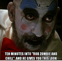 "Some Captain Spaulding for the ladies.  💀 Wicked Clown 💀: TEN MINUTES INTO ""ROB ZOMBIE AND  CHILL"" AND HE GIVES YOU THIS LOOK Some Captain Spaulding for the ladies.  💀 Wicked Clown 💀"