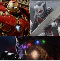 Memes, Movies, and Titanic: Ten Obviously when the Avengers assemble for the Infinity War against Thanos, they're going to need all the help they can get. Clearly Hulk is one of the few Avengers that can stand toe to toe with the Mad Titan. But we've seen other Hulk-sized Avengers in the form of the Hulkbuster and Giant-Man. They've shown they can hold their own in such intense battles.   But would you like to see these gigantic Avengers take on Thanos in the upcoming AVENGERS movies?  (Tim Costello)