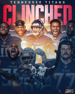 The @Titans clinch the final spot in the AFC Playoffs! #NFLPlayoffs #Titans https://t.co/TUf6vPAyOv: TENNE SSEE TITANS  CLINCHED  NS  TANS  ர்  TITANS  TITANS  TITS S  NFL  TITANS  54  TITANS  77  TTANS  Toms The @Titans clinch the final spot in the AFC Playoffs! #NFLPlayoffs #Titans https://t.co/TUf6vPAyOv