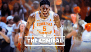 """Nobody names somebody Admiral and not expect them to be something""  During his four years with @Vol_Hoops, @admiralelite15 won the hearts of Rocky Top. Take a look back at his journey and the impact he's made. https://t.co/FJSruaGukW: TENNESSEE  5  LUNTEER  THEADMIRA ""Nobody names somebody Admiral and not expect them to be something""  During his four years with @Vol_Hoops, @admiralelite15 won the hearts of Rocky Top. Take a look back at his journey and the impact he's made. https://t.co/FJSruaGukW"