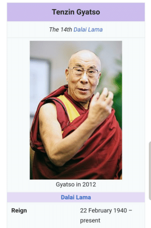 Tenzin Gyatso is the current Dalai Lama. And I thought they were Aang's son and mentor...: Tenzin Gyatso is the current Dalai Lama. And I thought they were Aang's son and mentor...