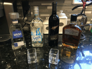 Not a bad haul from the in-laws. They know me so well 👍🏻: TEQUILA  SILVER  100% ACAVEO  13056  fuza Bedaam  LOUR  SUC  EL  JACK DANIELS  GENTLEMAN  1800  JACK  DOUBLE MELLOWED TENNESSEE WHISKEY  SILVER  Sauza  IMPORTED  17a  BOEGER  Barbera  17 EL DORADO  TEQUILA  SILVER  ALC 14% by VOL  Dn Condis S.  Algjandro uranade plye  jen Migica  100% AGAVE  TEDUILA MAETRS  40% ALC. BY VOL. NET CONT. 750ML  DISTILLED & BOTTLED BY  JACK DANIEL DISTILLERY m  LYNCHBURG, TN. USA  PRODSY  SEPFOED  TEQUILA  edoiLA  HECHO EN MEXICO Not a bad haul from the in-laws. They know me so well 👍🏻