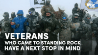 Memes, 🤖, and Flint: terans  VETERANS  wHo CAME TO STANDING Rock  HAVE A NEXT STOP IN MIND  MMic These veterans helped win the fight at Standing Rock but they're not done protecting their allies. Flint is the next stop on their list.
