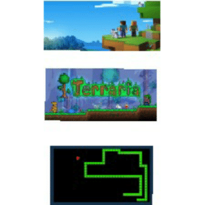Only real pixel addicts play snake Minecraft and terraria are for beginners: Terrafra  SALEAria Only real pixel addicts play snake Minecraft and terraria are for beginners