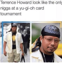 Terrence Howard, Yu-Gi-Oh, and Dank Memes: Terrence Howard look like the only  nigga at a yu-gi-oh card  tournament 💀