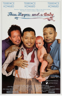 """Terrence Howard: TERRENCE  HOWARD  TERRENCE  HOWARD  TERRENCE  HOWARD  Terrence. Terrence and Terrence know a thing or two about women.  But when it comes to babies, they're all wet  They, changed her diapers. She changed their lives.  回@J IM MYRIGG  @TYPECYCLE  UCHSTONE PICTURES Pr  SILVER SCREEN PARTNERS Ⅲ  In  COMMUNCATIO  A JEAN FRANCOIS LEPETIT/INTERSCOPE  n었0nge. ADAM GREENBERG conoced