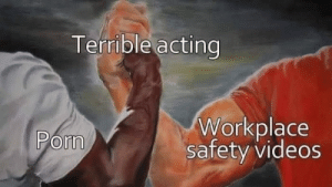 Y teletienda.: Terrible acting  Workplace  safety videos  Pom Y teletienda.