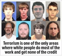 White People: Terrorism is one of the only areas  where white people do most of the  work and get none of the credit