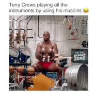 👀😨😅😅😅😅💪😂💪😂: Terry Crews playing all the  instruments by using his muscles  DANGER  ZONE  hot vocal 👀😨😅😅😅😅💪😂💪😂