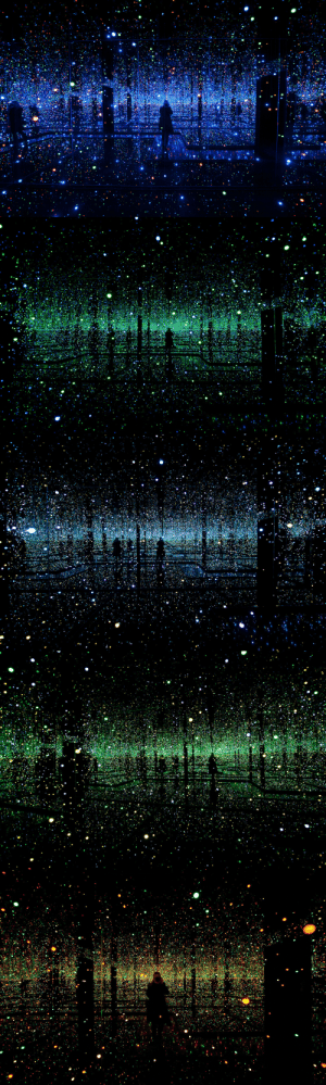 "terryonok:   Yayoi Kusama, Infinity Mirrored Room - Filled with the Brilliance of Life (2011) ""Eccentric Japanese artist Yayoi Kusama's intriguing art installation at the David Zwirner gallery in New York tussles with a tough concept that most of us have a difficult time wrapping our heads around – infinity. Her ""I Who Have Arrived In Heaven"" installation features infinity rooms that let visitors take a step into an enchanting and endless space."" - Bored Panda  : terryonok:   Yayoi Kusama, Infinity Mirrored Room - Filled with the Brilliance of Life (2011) ""Eccentric Japanese artist Yayoi Kusama's intriguing art installation at the David Zwirner gallery in New York tussles with a tough concept that most of us have a difficult time wrapping our heads around – infinity. Her ""I Who Have Arrived In Heaven"" installation features infinity rooms that let visitors take a step into an enchanting and endless space."" - Bored Panda"