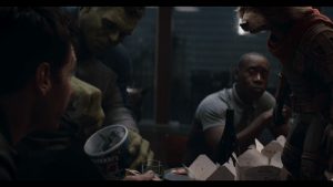 """Hulk, Avengers, and Ice Cream: TERRY'S  Thank In Avengers: Endgame (2019), while the Avengers are discussing where to find the Infinity Stones, Hulk is seen eating a Ben & Jerry's ice cream called """"Hunka Hulka Burnin' Fudge"""", which was previously talked about in 2018's Avengers: Infinity War."""