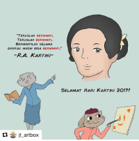 "Repost @jt_artbox ・・・ Keep dreaming, keep on dreaming as long as you live. I thank you milady, thanks for showing everyone that there is no boundary in getting education. Selamat hari Kartini guys ;) . . . . . . . komikinajah perempuanhebat maleminajah: ""TERusLAH BERMIMPl.  TERusLAH  BERMIMPI  BERMIMPILAH SELAMA  ENGKAu MASIH BISA  BERMIMIPI  R. A. KARTINI  SELAMAT HARI KARTINI 2017!  ti jt art box Repost @jt_artbox ・・・ Keep dreaming, keep on dreaming as long as you live. I thank you milady, thanks for showing everyone that there is no boundary in getting education. Selamat hari Kartini guys ;) . . . . . . . komikinajah perempuanhebat maleminajah"
