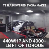 How much torque?! 😲 📹:@onpointdyno: TESLA POWERED EVORA MAKES  440WHP AND 4000+  LB FT OF TORQUE How much torque?! 😲 📹:@onpointdyno
