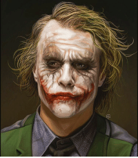 """Evening Gothamites, I hope everyone is enjoying their weekend! Here is a stunning painting of Heath Ledger's Joker by illustrator Tov Mauzer! To see their Christian Bale's Batman and other film and pop culture portraits, please visit their website at Tovmauzer.deviantart.com-! Are you a fan of Ledger's award winning performance as The Joker in Christopher Nolan's 2008 film """"The Dark Knight""""? Thanks for following and we will have more History of the Batman soon! ✌🏼️💜💚🃏🎥🎨: tess. Evening Gothamites, I hope everyone is enjoying their weekend! Here is a stunning painting of Heath Ledger's Joker by illustrator Tov Mauzer! To see their Christian Bale's Batman and other film and pop culture portraits, please visit their website at Tovmauzer.deviantart.com-! Are you a fan of Ledger's award winning performance as The Joker in Christopher Nolan's 2008 film """"The Dark Knight""""? Thanks for following and we will have more History of the Batman soon! ✌🏼️💜💚🃏🎥🎨"""