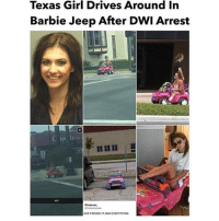 Barbie, Memes, and Best: Texas Girl Drives Around In  Barbie Jeep After DWI Arrest  Whatever,  SHE PARKED IT AND EVERYTHING HURRY! 🔥 @lisofficial_ entire store is on sale now! 😱 💫Act fast before stock runs out! 💫 🔥limited amount🔥 🔥 best travel accessories🔥 🔥only 24 hours left!🔥 @lisofficial_ @lisofficial_