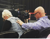 "This is what made me fall head over hills in love with this man. HE PRAYS FOR ME!!! This was him praying over me before I ministered. I still get nervous before I preach and he knows it. 😭😭 I never had a man pray over me, hold me and prophecy into me. He honors the call of God on my life. He has no desire to compete or make me feel like I have to choose between him and ministry. (Which I do... God, Him and family obviously are first) He covers me as I travel the world winning the world to Christ. He's taught me balance. His gentle spirit and actions speak more than his words ever could. When God brought Him into my life, God said,""This IS your good and perfect gift!"" I've never met a man like my daddy until, I met you @pastorpothier you make me feel safe and covered. As long as I have you, God, and our boys... I'm set! You love my quirkiness, my combat boots, my Mohawk and the occasional splash of color in my hair. You love my tutus and self painted clothing! You are my escape and not my duty! You didn't have the best example in a father growing up, but you sure broke the mold and came out stellar! When I said I do to you five years ago it was the best decision I ever made, your unconditional love for me, taught me how to unconditionally love myself! Thank you for spending every single morning of our lives the last five years with God... that couch that you sit on and your bible that you read and mark up may be looking worn out, but you've just gotten BETTER! You're not only my best friend, my lover but my pastor and you're a great pastor. You are strong and consistent. Full of integrity. You aren't jaded. Sigh.... thank GOD! Never thought I could meet someone who loves people as much as I do. The only competition in our home is WHO CAN OUT LOVE one another! I honor, respect and adore YOU!!! Ladies and Gents... prayer together is the KEY!!! realtalkkim forevervalentine myFOREVER IfGodDidItForMeHeWillDoItForYou: Tf This is what made me fall head over hills in love with this man. HE PRAYS FOR ME!!! This was him praying over me before I ministered. I still get nervous before I preach and he knows it. 😭😭 I never had a man pray over me, hold me and prophecy into me. He honors the call of God on my life. He has no desire to compete or make me feel like I have to choose between him and ministry. (Which I do... God, Him and family obviously are first) He covers me as I travel the world winning the world to Christ. He's taught me balance. His gentle spirit and actions speak more than his words ever could. When God brought Him into my life, God said,""This IS your good and perfect gift!"" I've never met a man like my daddy until, I met you @pastorpothier you make me feel safe and covered. As long as I have you, God, and our boys... I'm set! You love my quirkiness, my combat boots, my Mohawk and the occasional splash of color in my hair. You love my tutus and self painted clothing! You are my escape and not my duty! You didn't have the best example in a father growing up, but you sure broke the mold and came out stellar! When I said I do to you five years ago it was the best decision I ever made, your unconditional love for me, taught me how to unconditionally love myself! Thank you for spending every single morning of our lives the last five years with God... that couch that you sit on and your bible that you read and mark up may be looking worn out, but you've just gotten BETTER! You're not only my best friend, my lover but my pastor and you're a great pastor. You are strong and consistent. Full of integrity. You aren't jaded. Sigh.... thank GOD! Never thought I could meet someone who loves people as much as I do. The only competition in our home is WHO CAN OUT LOVE one another! I honor, respect and adore YOU!!! Ladies and Gents... prayer together is the KEY!!! realtalkkim forevervalentine myFOREVER IfGodDidItForMeHeWillDoItForYou"